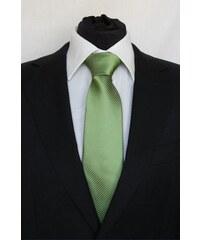 Šperky LAFIRA Style Pánská zelená klasická kravata s proužky 919