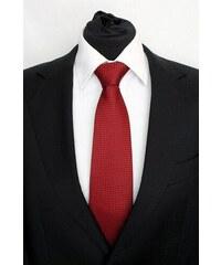 Šperky LAFIRA Style Pánská červená klasická kravata s kolečky 924