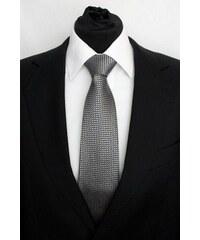 Šperky LAFIRA Style Pánská černá klasická kravata s kolečky 925