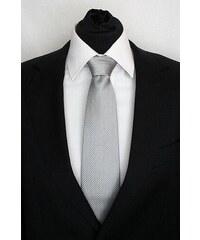 Šperky LAFIRA Style Pánská šedá klasická kravata s kolečky 926