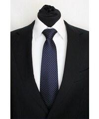 Šperky LAFIRA Style Pánská modrá klasická kravata s tečkami 927