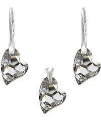 Šperky LAFIRA Style Stříbrná sada srdce Devoted2You CAL Swarovski Elements 980