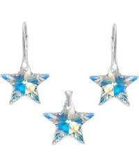 Šperky LAFIRA Style Stříbrná sada Star AB Swarovski Elements 983