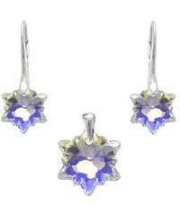 Šperky LAFIRA Style Stříbrná sada Edelweiss AB Swarovski Elements 987