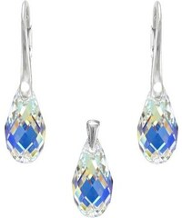 Šperky LAFIRA Style Stříbrná sada Briolette AB Swarovski Elements 991