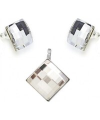 Šperky LAFIRA Style Stříbrná sada Chessboard Crystal Swarovski Elements 992