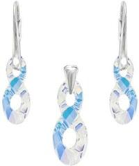 Šperky LAFIRA Style Stříbrná sada Infinity AB Swarovski Elements 998
