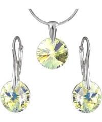 Šperky LAFIRA Style Stříbrná sada Rivoli AB Swarovski Elements 1003