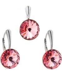 Šperky LAFIRA Style Stříbrná sada Rivoli Rose Swarovski Elements 1005