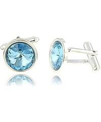 Šperky LAFIRA Style Manžetové knoflíky Rivoli Aquamarine Swarovski Elements 1033