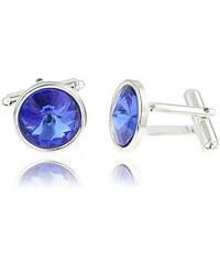 Šperky LAFIRA Style Manžetové knoflíky Rivoli Sapphire Swarovski Elements 1035