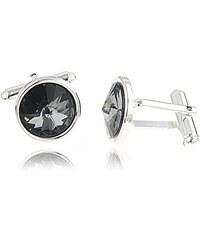 Šperky LAFIRA Style Manžetové knoflíky Rivoli Silver Swarovski Elements 1036