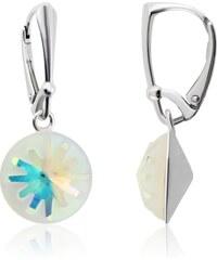 Šperky LAFIRA Style Stříbrné náušnice Sea Urchin AB Swarovski Elements 1076