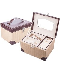 Šperky LAFIRA Style Dámská béžovo-hnědá šperkovnice 1113