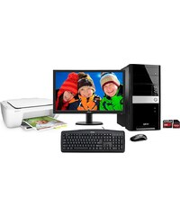 Hyrican PC Set, AMD A4-7300, 8GB, 2TB, Windows 10 + Monitor + Drucker »PC-Set SET01092«