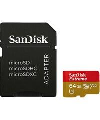 SanDisk microSDXC Extr. 64GB, Vid. Sp. Cl. V30, UHS Sp. Cl. U3,UHS-I