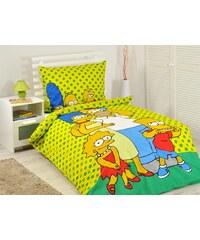 Jerry Fabrics povlečení Simpsons family Yellow 140x200 70x90