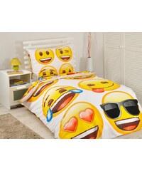 Jerry Fabrics JerryFabrics Povlečení emoji bavlna 140x200 70x90