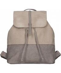 JOST Dámský kožený batoh TRECCIA 2586-998 béžovo-šedý