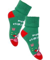 STEVEN Dětské ponožky Marry Christmas - zeleno-červené