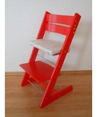 Jitro Dětská rostoucí židle klasik červená Barva sedáku: Hnědý