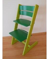 Jitro Dětská rostoucí židle klasik zeleno-zelená Barva sedáku: Žlutý s myškami