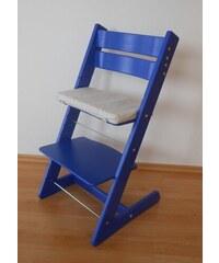 Jitro Dětská rostoucí židle klasik modrá Barva sedáku: Modrý s pastelkami