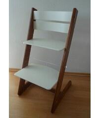 Jitro Dětská rostoucí židle klasik bílá-ořech Barva sedáku: Růžový