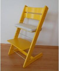 Jitro Dětská rostoucí židle klasik žlutá Barva sedáku: Zelenkavý