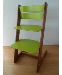Jitro Dětská rostoucí židle klasik zelená-ořech Barva sedáku: Hnědý