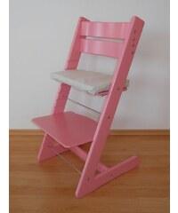 Jitro Dětská rostoucí židle klasik růžová Barva sedáku: Žlutý s myškami
