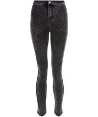 New Look Teenager – Schwarze superenge Skinny-Jeans in Acid-Waschung mit hohem Bund