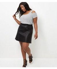 New Look Curves – Weißes, schulterfreies Top mit Streifen