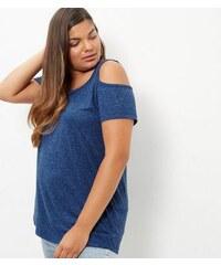 New Look Curves – Blaues, schulterfreies Top