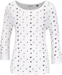 Krémové vzorované tričko s 3/4 rukávy ONLY Jess