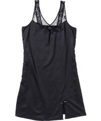 bpc bonprix collection Chemise de nuit en satin noir sans manches lingerie - bonprix
