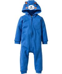 bpc bonprix collection Combinaison bébé en sweat avec capuche coton bio bleu enfant - bonprix