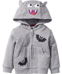 bpc bonprix collection Gilet sweat-shirt bébé en coton bio gris enfant - bonprix