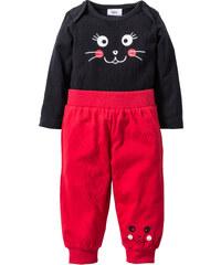 bpc bonprix collection Body bébé à manches longues + pantalon (Ens. 2 pces.) coton bio noir enfant - bonprix