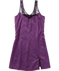 bpc bonprix collection Chemise de nuit en satin violet sans manches lingerie - bonprix