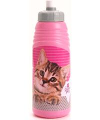 BENIAMIN Láhev na pití Sweet Pets růžová s kočičkou