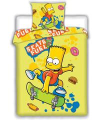 JERRY FABRICS Povlečení Bart Simpson skate žlutá 140/200