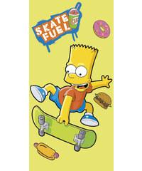 JERRY FABRICS Osuška Bart Simpson skate žlutá 75/150