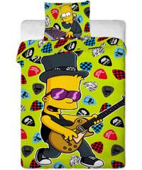 JERRY FABRICS Povlečení Bart Simpson music 140/200