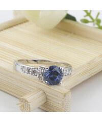 Prsten Blue Moon s krystalem a zirkony