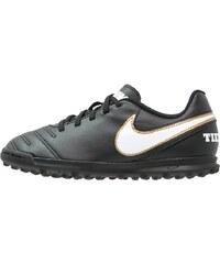 Nike Performance TIEMPO RIO III TF Chaussures de foot multicrampons black/white/metallic gold