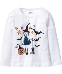 bpc bonprix collection Langarmshirt Glow in the Dark Halloween in weiß für Mädchen von bonprix