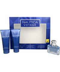 Nautica Nautica Voyage - toaletní voda s rozprašovačem 30 ml + balzám po holení 75 ml + sprchový gel 75 ml