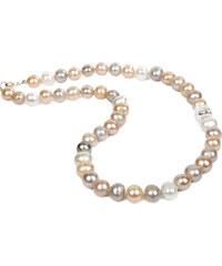 JwL Jewellery Barevný perlový náhrdelník s krystalem JL0052