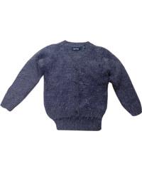 Blue Seven Dívčí chlupatý svetr - tmavě šedý